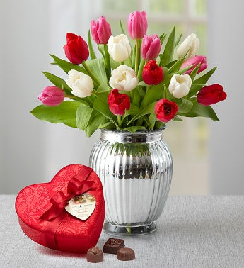 Sweetest Love Tulips, 15 Stems