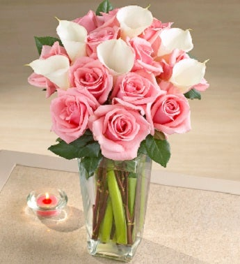 Pink Rose and Calla Lilly Bouquet
