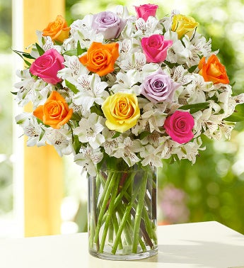 Assorted Rose & Peruvian Lily