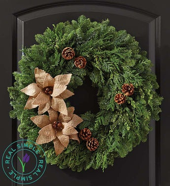Country Christmas Burlap Wreath