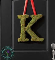 Personalized Holiday Moss Letters