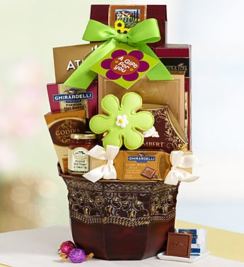 Summer Blooms Gourmet Planter Gift Basket