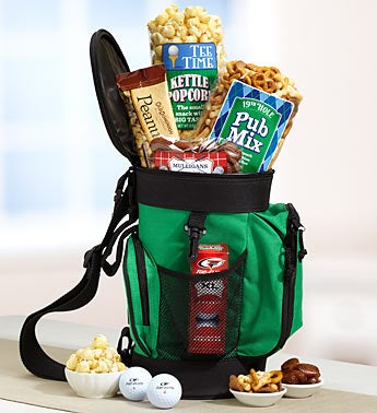 Golf Tote Gift Basket Cooler & Snacks