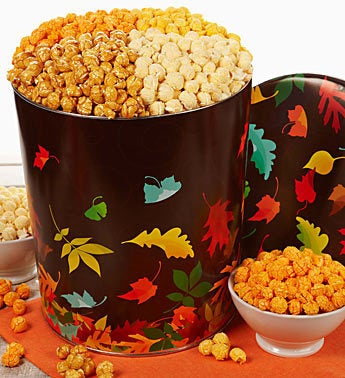 The Popcorn Factory Autumn Prism 4-way Popcorn Tin