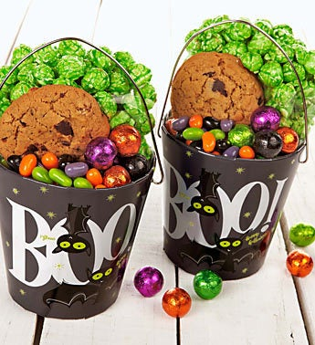 The Popcorn Factory� Boo Bats Pail Set of 2