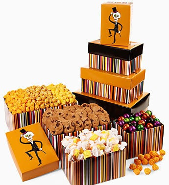 The Popcorn Factory Mr. Bonejangles Snack Tower