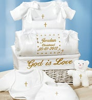 Personalized Baby Christening Gift Basket