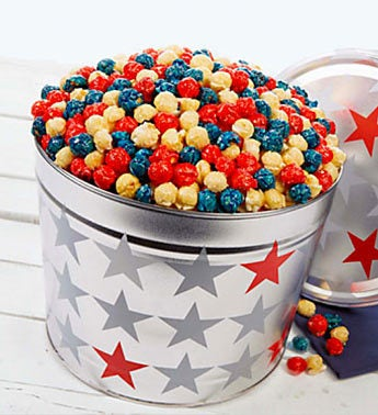 Patriotic Kettle Corn Tin