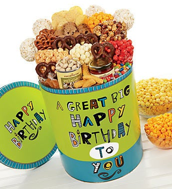 The Popcorn Factory� Great Big Happy Bday Tin