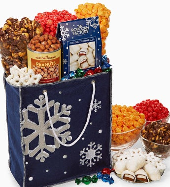 The Popcorn Factory� Snowy Night Felt Tote