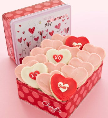 Cheryl's Valentine Gift Tin 16 Cutouts