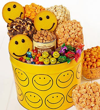 The Popcorn Factory® Assorted Smiley Snack Tin