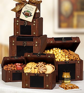 Game Day Snack Kit Faux Leather Tower