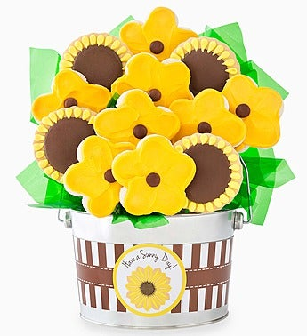 Cheryl's Sunflower Cookie Pot