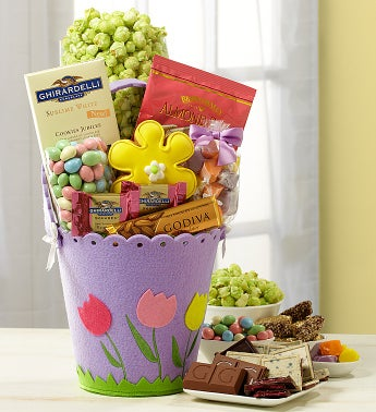 Flowers of Spring Gourmet Gift Basket