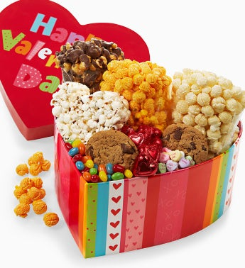 The Popcorn Factory� Giant Heart Treat Box