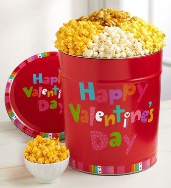 The Popcorn Factory� Happy Valentine's Day Tin