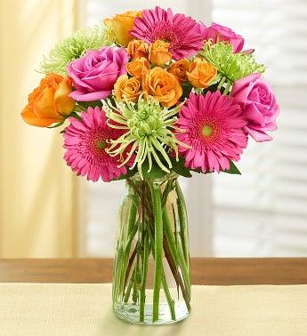 Vibrant Blooms Bouquet + Free Vase