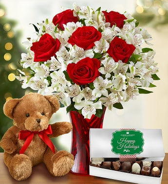 Glad Tidings Rose & Lily + Bear and Free Chocolate