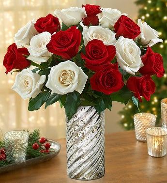 Peppermint Rose Bouquet, 18 Stems