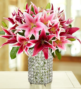 Stylish Pink Lily Bouquet