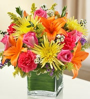 Multicolor Bright Cube Arrangement