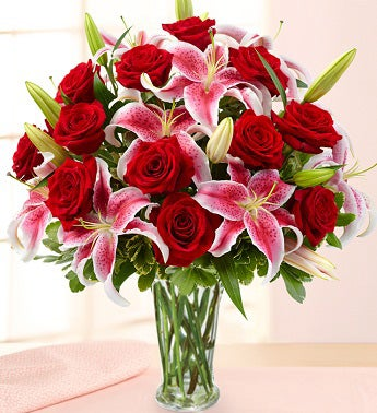 Elegant Rose & Lily Bouquet