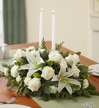 Classic All-White Centerpiece