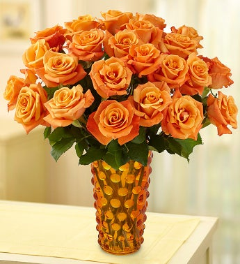 Sunrise Orange Roses, 12-24 Stems