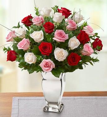 Valentine Rose Medley? Premium Long Stem Roses