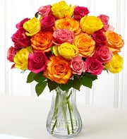 24 Mixed Color Sweetheart Rose