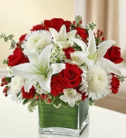 Red and White Lovely Arrangement