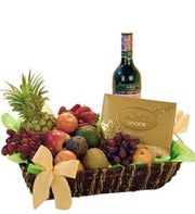 Fruit Wine and Chocolate Gift Tray