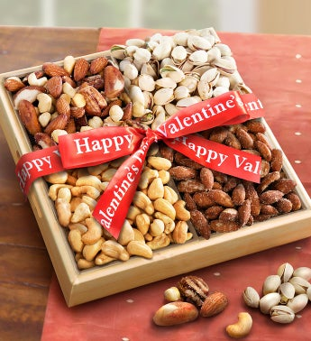 Nuts over You! Valentine Nut Assortment Basket