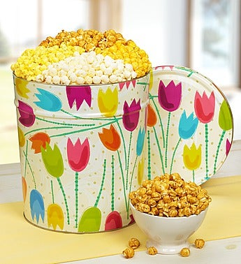 The Popcorn Factory� Tulips Popcorn Tin