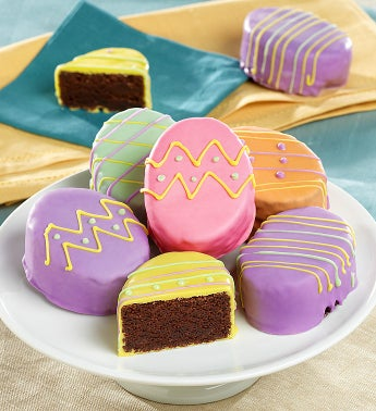 Easter Egg-Shaped Mini Brownie Cakes