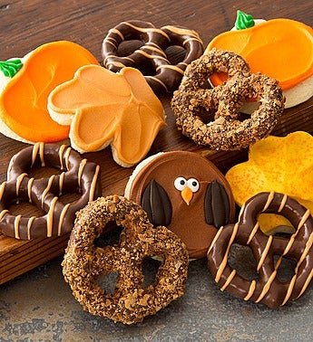 Cheryl's Autumn Cookie Pretzel Gift