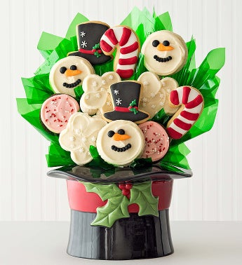 Cheryl's Snowman Hat Cookie Pot