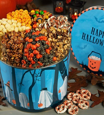Popcorn Factory�Trick or Trees 7 Way Snack Tin
