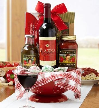Piazza Rosso Sangiovese Wine & Pasta Colander