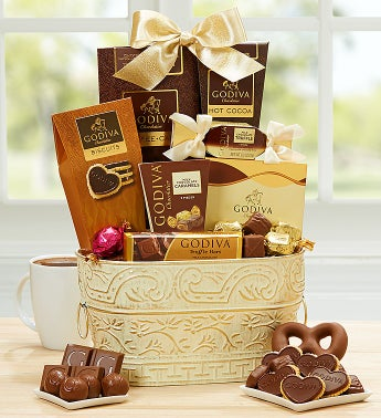 Spring Elegance Godiva Chocolates  Basket