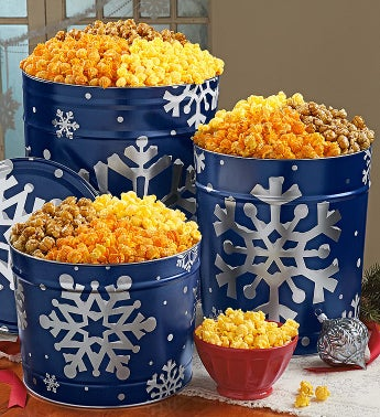 The Popcorn Factory� Snowy Night Popcorn Tins