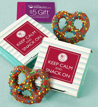 Keep Calm and Snack On Pretzel Card