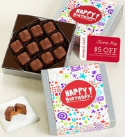 Fannie May� Birthday Caramels Chocolate Card