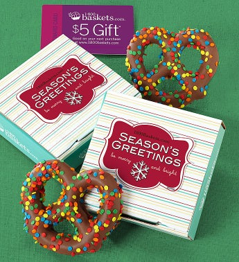Season's Greetings Pretzel Card