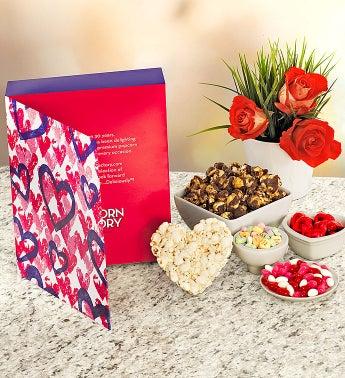 Large Valentine Popcorn Card