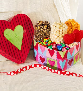 Popcorn Heart Deco Treat Box