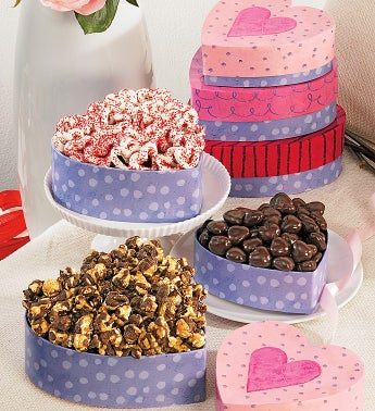 Popcorn 3 Tier Heart Stack Tower