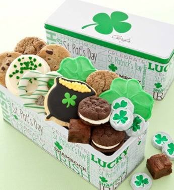 Cheryl's St. Pat's Tin With Treats Asst. 12 ct