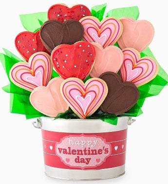 Cheryl's Hearts Cookie Flower Pot-12ct